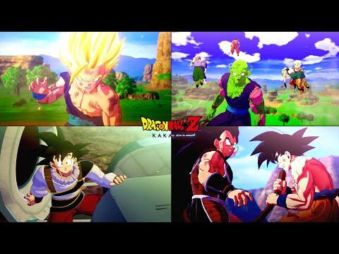 Dragon Ball Z: Kakarot - All Cutscenes Full Story Mode Revealed So Far (DBZ Kakarot 2020)