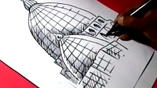 How to Draw MUSLIM MASJID DRAWING step by step for kids