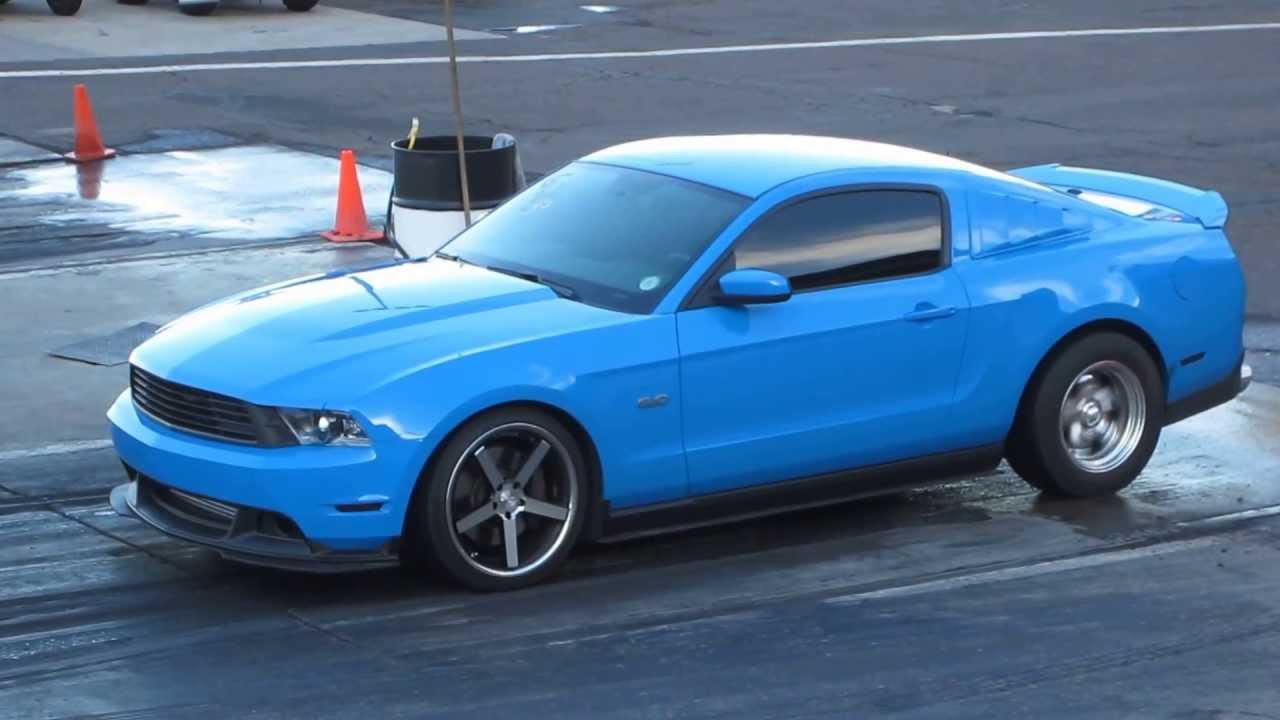 2012 Grabber Blue Mustang 5.0 Paxton 1/4 Run At Bandimere ...