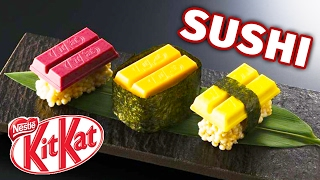 Japanese Sushi Kit Kats Taste Test