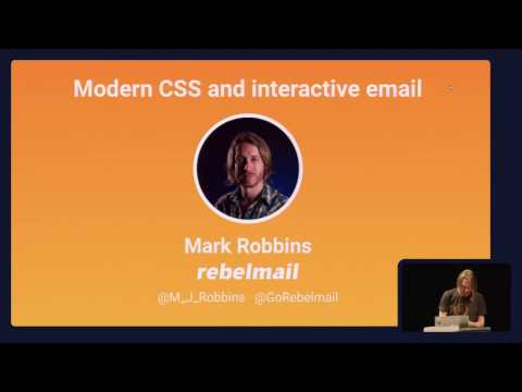Modern CSS and interactive email - Mark Robbins @ From the Front 2016