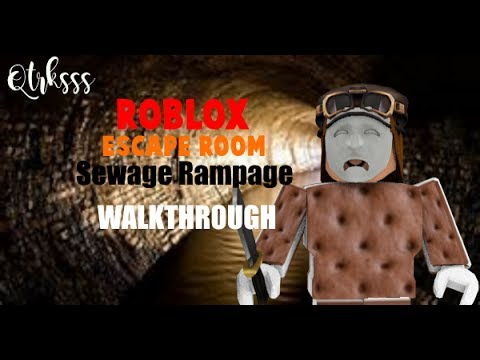 Roblox Escape Room Sewage Scramble Walkthrough