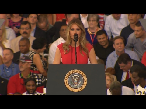 Let us Pray : First Lady Melania Trump leads Prayer..God Bless USA