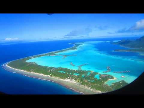 Bora Bora Airplane Takeoff on Airport Island Motu French Polynesia