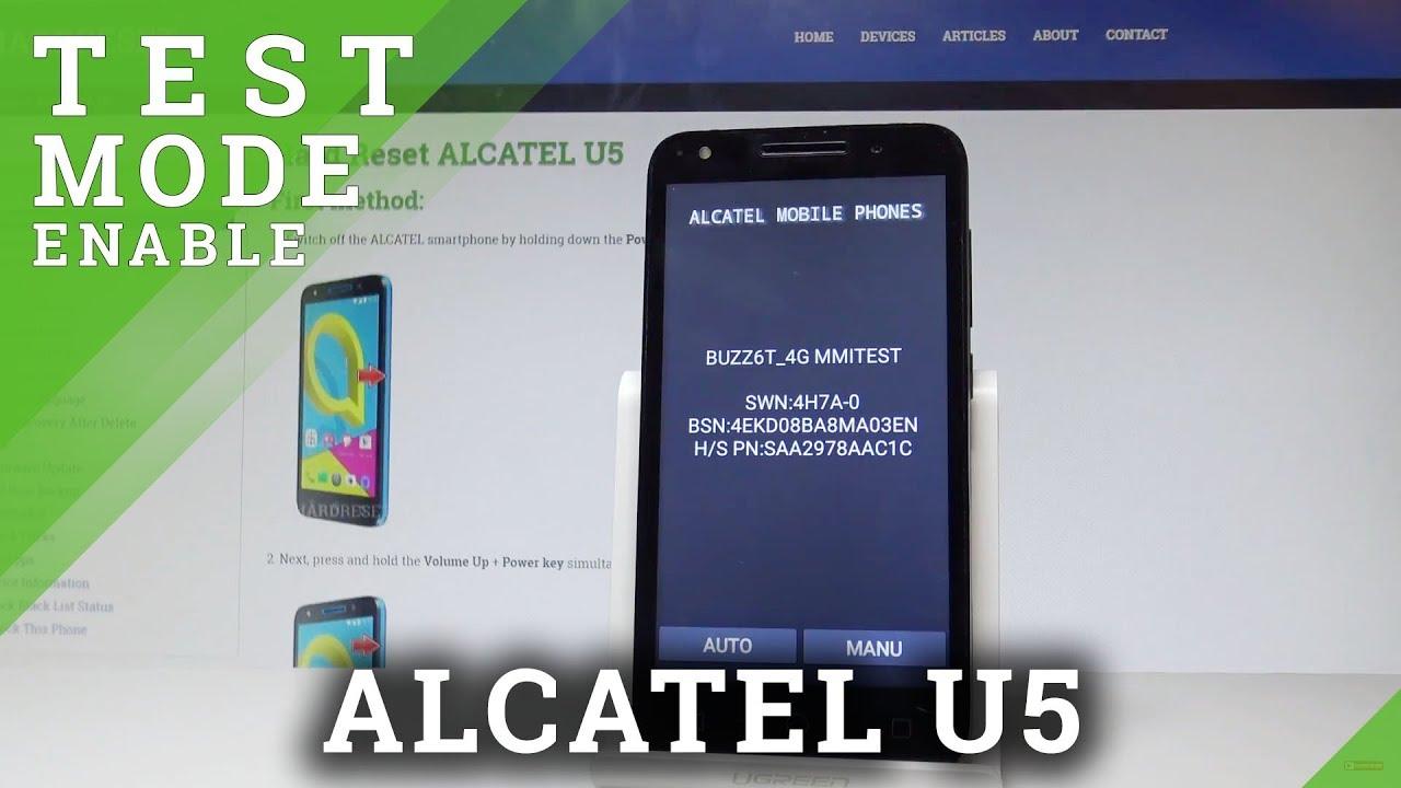 Codes ALCATEL U5 HD - HardReset info