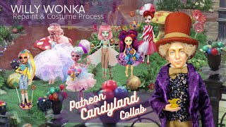 Willy Wonka OOAK BTS Doll Repaint & Costume Process