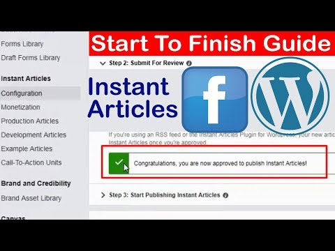 Facebook Instant Articles Web Setup 2017 / 2018 - Start To Finish