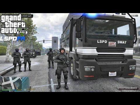 GTA 5 LSPDFR 0.3.1 - EPiSODE 390 - LET'S BE COPS - SWAT PATROL (GTA 5 REAL LIFE POLICE MOD) PART 2