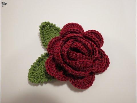 كروشيه وردة 4 Crochet Flower