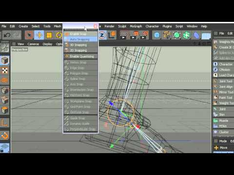 C4D Leg Rigging Part 2 of 3