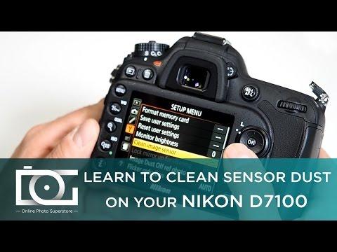 NIKON D7100 SENSOR CLEANING | How to Set to Clean Sensor Dust on NIKON D7100 Cameras