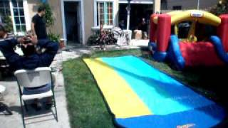 aj slip-n-slide third birthday this year ca-mon now Thumbnail