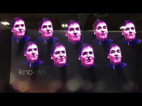 Kinomo Holograms 3D Images Like Mark Cuban Using LEDs At CES 2017 #CES2017