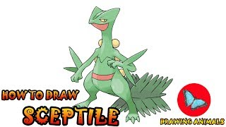 How To Draw Sceptile Pokemon | Coloring and Drawing For Kids