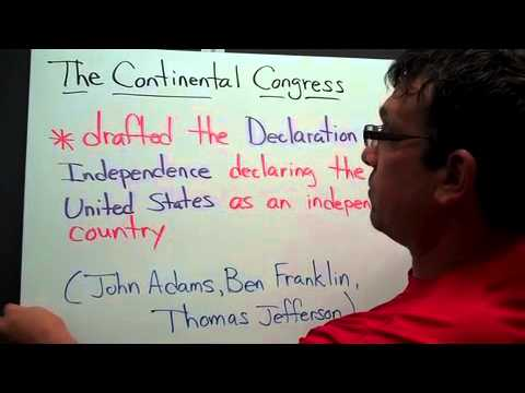 Continental Congress and Declaration of Independence