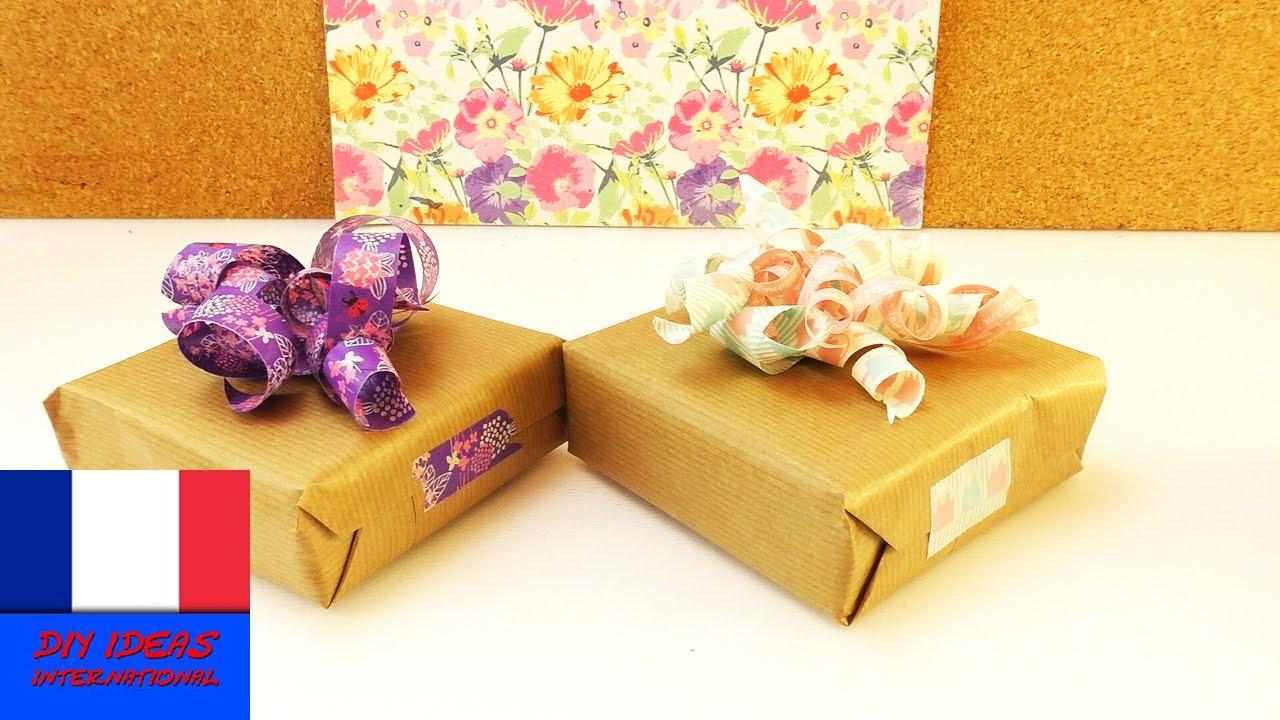 Decoration De Paquets Cadeaux diy washitape décoration pour paquet cadeau | jolie idée de déco pour vos  emballages cadeaux