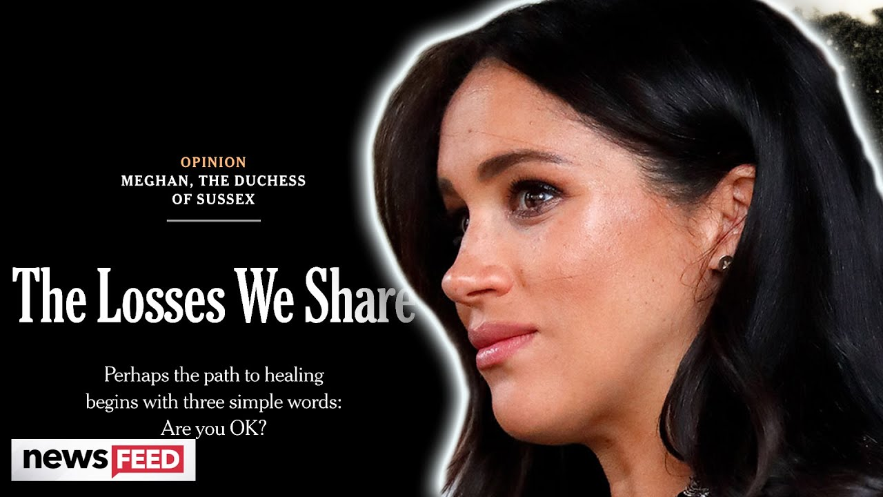 Meghan Markle Reveals 'GRIEF' After Suffering A Miscarriage!