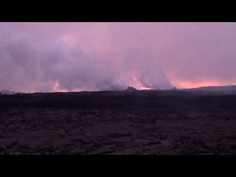 Update Kilauea eruption in Leilani Estates lava river.  August 9, 2018