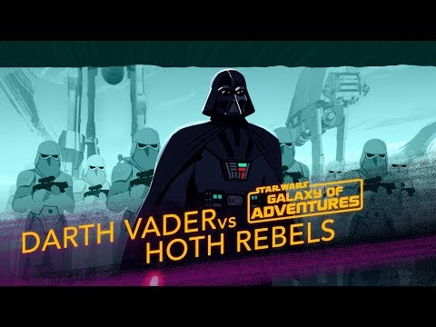 Darth Vader Vs. Hoth Rebels - Crushing The Rebellion | Star Wars Galaxy Of Adventures