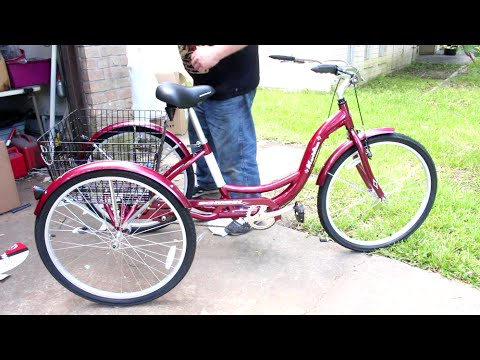 how to assemble motorize a schwinn meridian adult 3 wheel trike part 1 youtube. Black Bedroom Furniture Sets. Home Design Ideas
