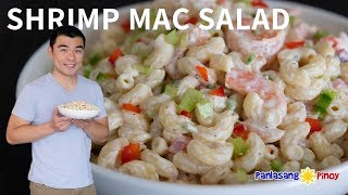Seared Shrimp Macaroni Salad with Roasted Bell Pepper