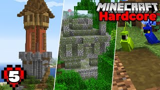Minecraft Hardcore Let's Play : Enchanting Tower and Jungle Adventure! Episode 5