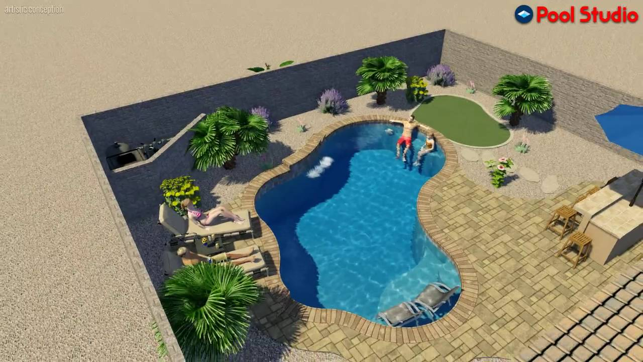 HARKINS Pool Studio - 3D Swimming Pool Design Software - YouTube