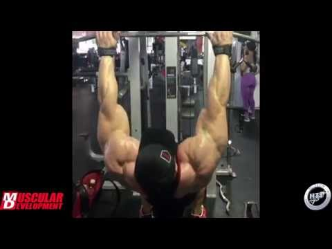 Dallas McCarver Trains Back 3.5 Weeks Out - Mr. Olympia 2016
