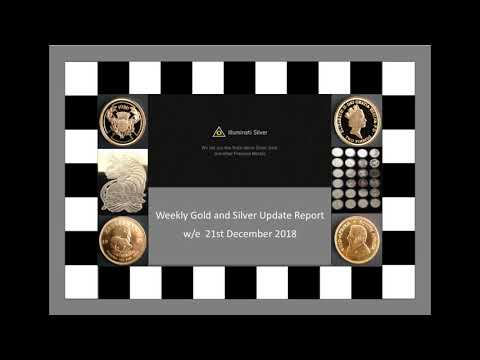 Gold and Silver weekly Update – w/e 21st December 2018