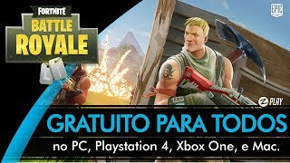 FORTNITE BATTLE ROYALE WILL BE FREE FOR ALL!!! (English-BR)