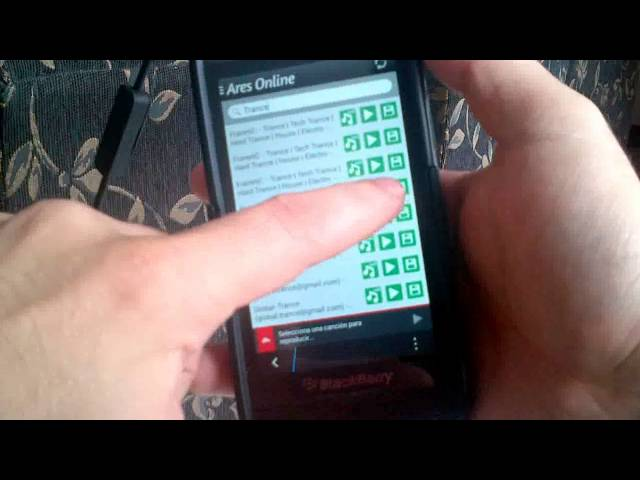 Ares Online Escuchar y Descargar Música MP3 en BlackBerry 10 Sneak Peek Travel Video