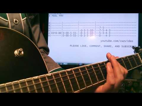 Guitar lesson depeche mode I feel you tab