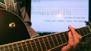 Depeche Mode I Feel You Guitar Lesson Chords and Tab