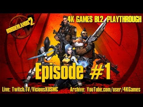 Let's Play Borderlands 2 4 Player Co-Op: Episode #1