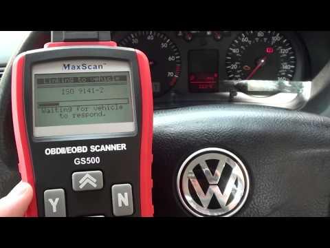 VW Golf Fault Code P0420 Diagnose Engine Warning Light Autel GS500