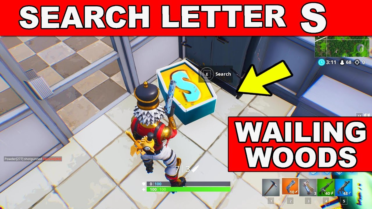Search The Letter 'S' In Wailing Woods Location Week 4