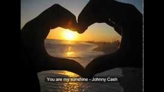 you are my sunshine (lyrics) Johnny Cash
