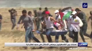 إصابات بين الفلسطينيين برصاص الاحتلال على حدود قطاع غزة (26/7/2019)