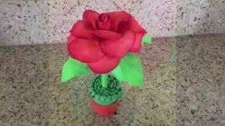 Manualidades para el día de las madres/Una Rosa de Foami