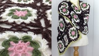 OLD VERSION Flower Dance Shawl Free Crochet Pattern - Right Handed