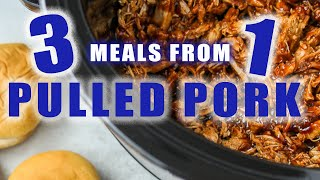 1 Batch of BBQ Pork Made into 3 Meals using the Instant Pot or Slow Cooker