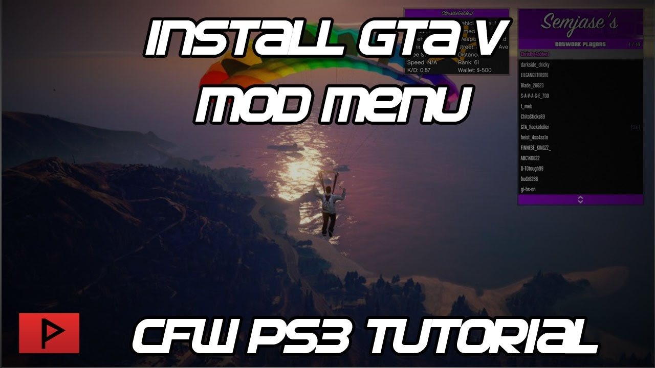 [How To] Install GTA V Mod Menus for Modded PS3 Tutorial (Free and Paid)
