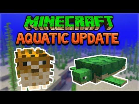 Update Aquatic  - Minecraft 1.13 NEW Ocean Update - Hunting For Mrs. Puff