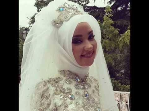 Muslim Wedding Dress Wth Hijab-LATEST