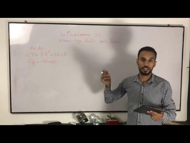 Microéconomie S2 : séance live bonus 1 : correction d'examen de la FSJES SOUISSI RABAT (CPP à CT)