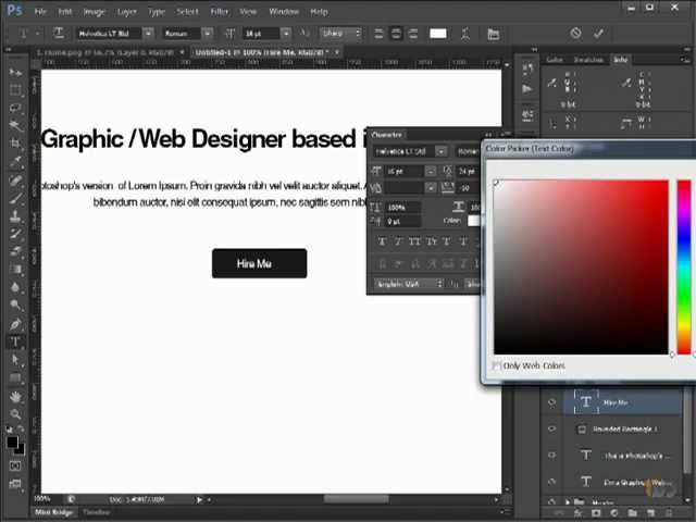 Learn How To Make A Simple Web Design Layout Using Photoshop 3 Youtube