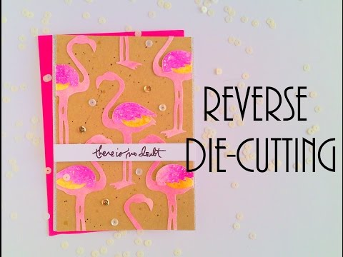 Reverse Die-cutting with Funky Flamingo
