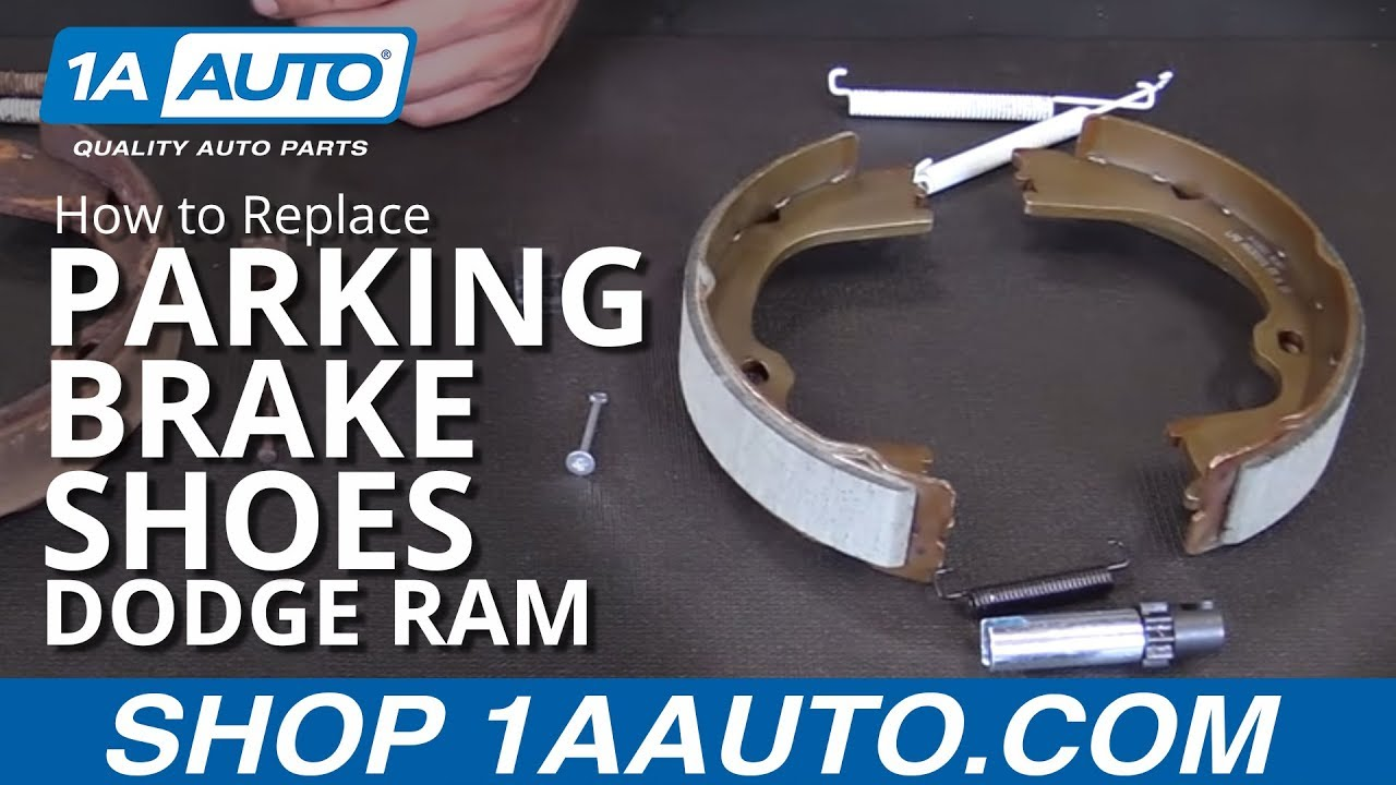 How to Replace Parking Brake Shoe Hardware 0710 Dodge Ram  YouTube