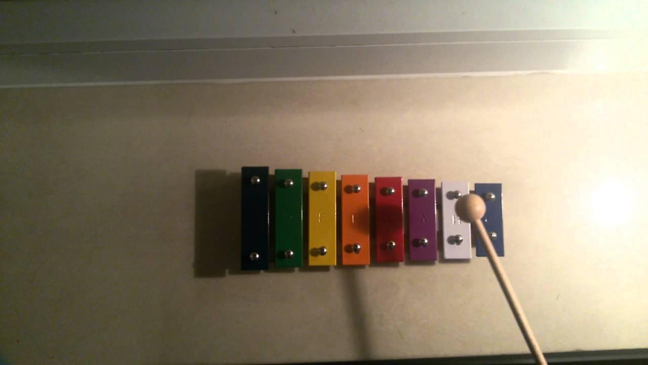 Weihnachtslieder Noten Für Glockenspiel.8 Noten Xylophon Oh Tannenbaum