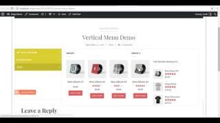 AP Mega Menu - Configureren WooCommerce Producten